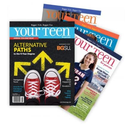 Multiple copies of Your Teen magazine