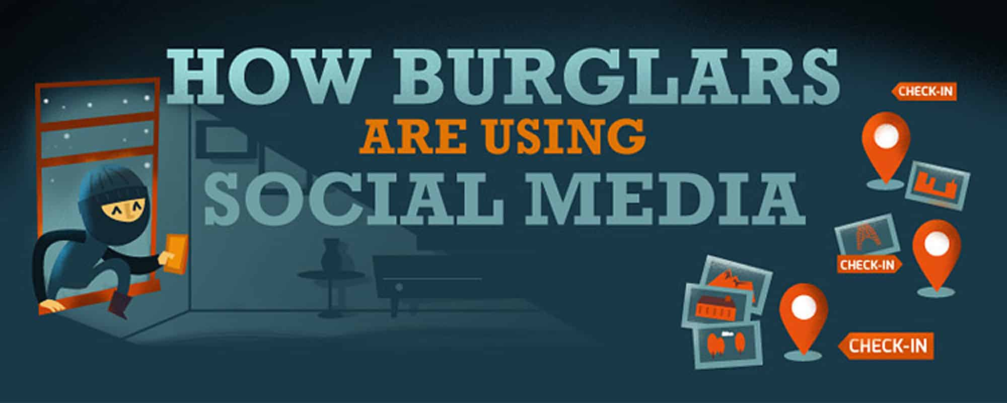 how burglars are using social media to select targets