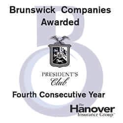 Brunswick Companies Awarded 4th Hanover President's Club