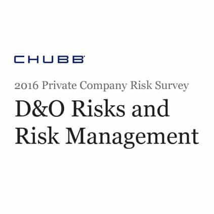 2016 Private Company Risk Survey D&O Risks and Risk Management