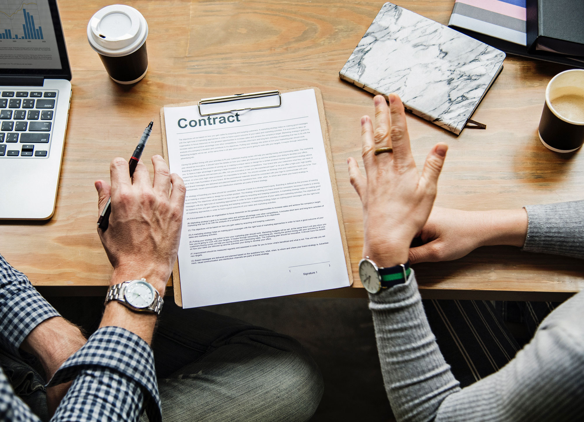 The importance of using Written Contracts in Business